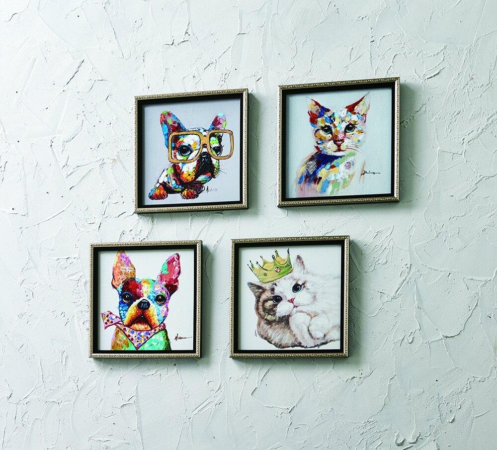 犬猫のペインティングフレーム全4種 by ディノス「HOUSE STYLING」