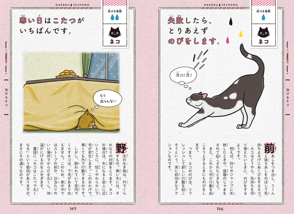 書籍「泣けるいきもの図鑑 イヌ・ネコ編」の猫のエピソード
