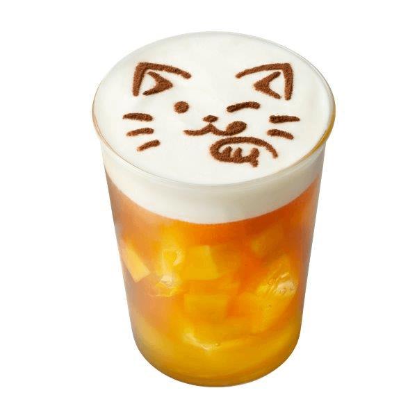 猫のデザートドリンク「ねこマンゴーチーズティー」by ねこがかわいいだけ展×CAFE Lab