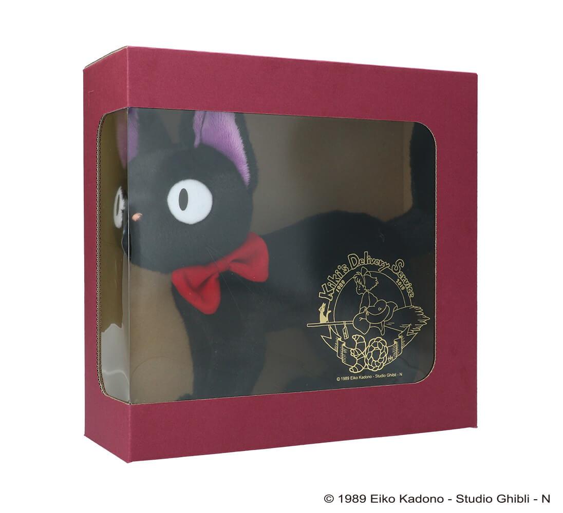 黒猫ジジのぬいぐるみ商品パッケージ by 「魔女の宅急便」公開30周年記念