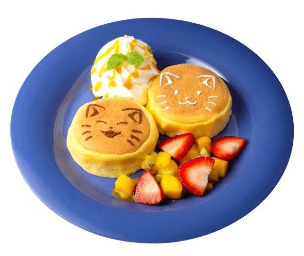 猫のパンケーキ「ねこねこフルーツパンケーキ」by ねこがかわいいだけ展×CAFE Lab