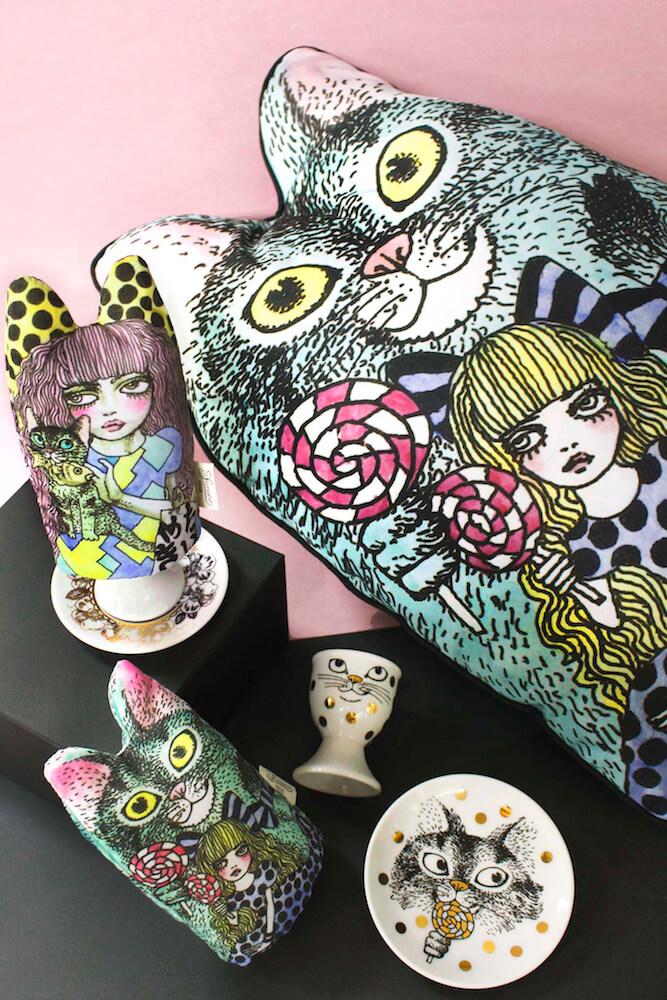 SUNACOのクッション by宇野亞喜良