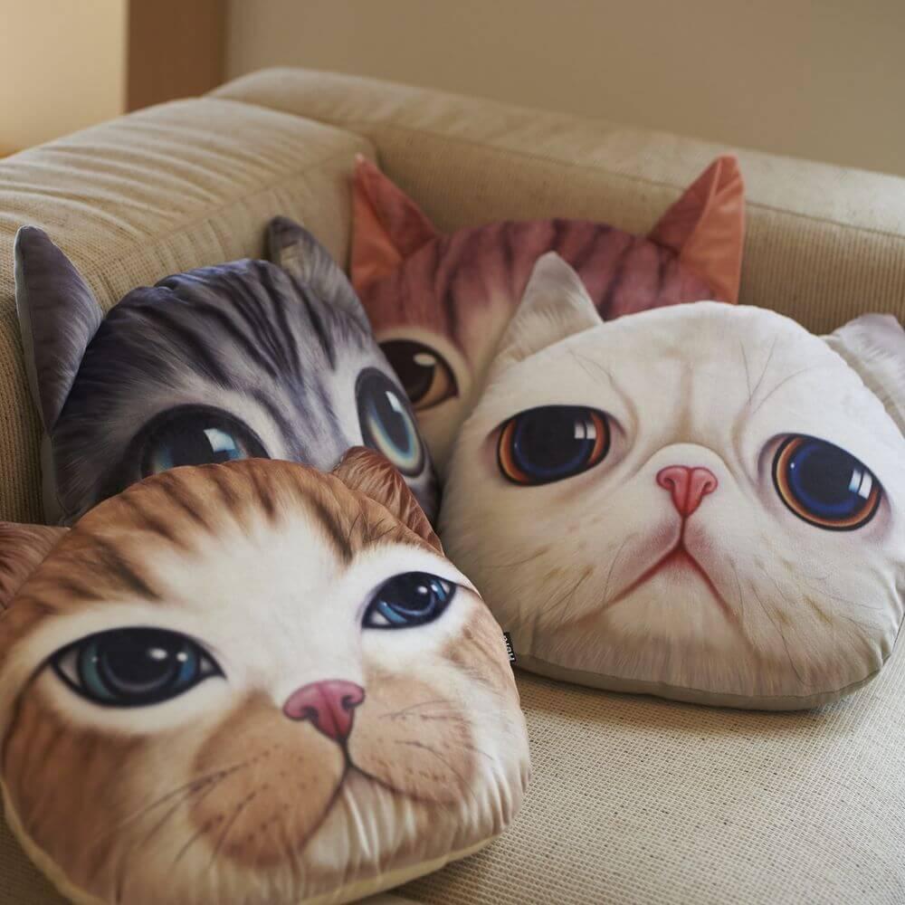 リアルな猫顔のクッション全4種類 by Koira&Kissa(コイラキッサ)