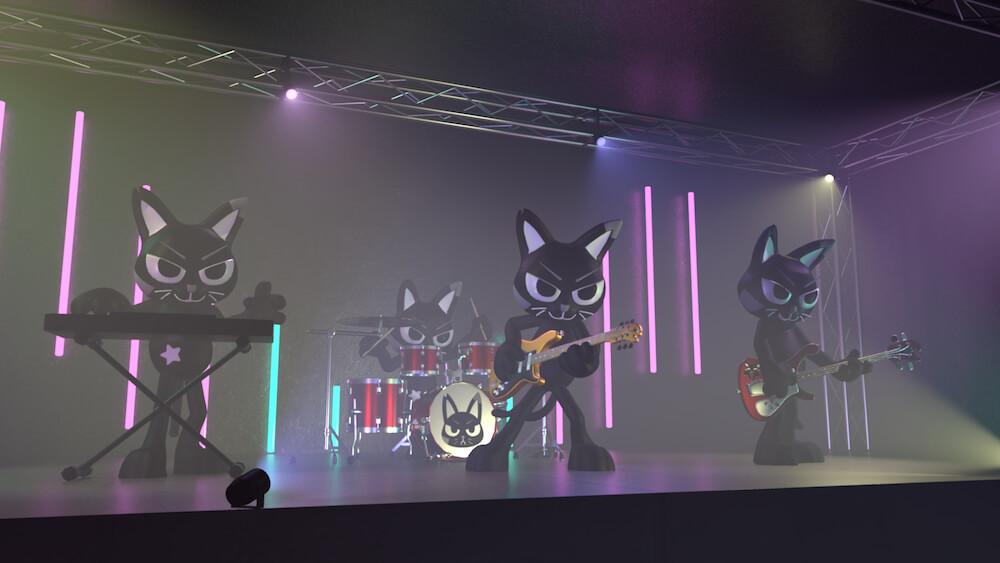 黒猫のバーチャルバンド「AMOW」