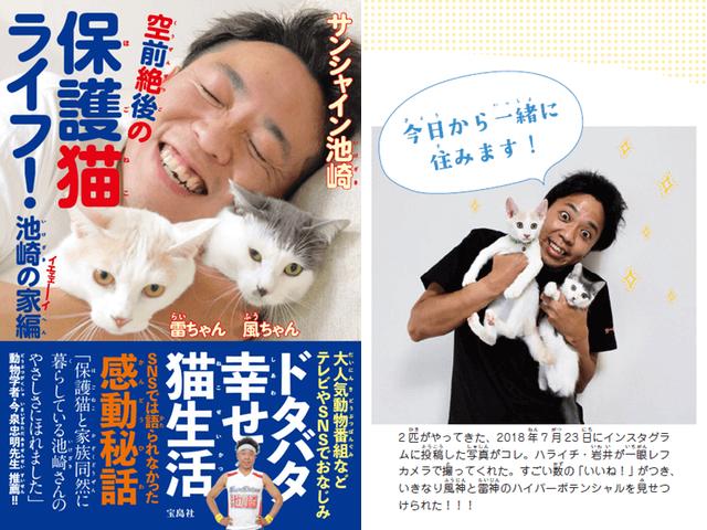猫 サンシャイン 池崎 保護 サンシャイン池崎さん保護猫二匹と同居中!モテるのに未婚で彼女がいない理由は?