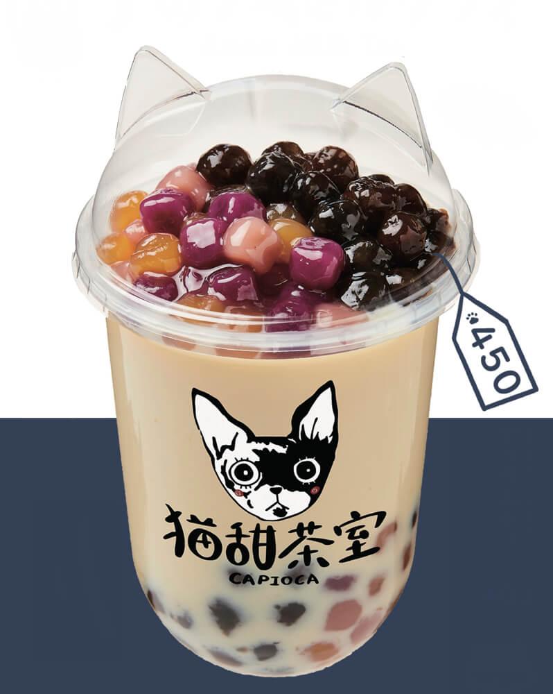 猫型カップに注いだタピオカミルクティー by 猫甜茶室(ねこてんちゃしつ) capioca(カピオカ)