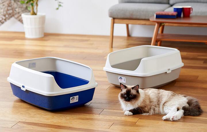 猫砂が飛び散りを防止する猫トイレDeep pan(ディープパン) ジャンボ