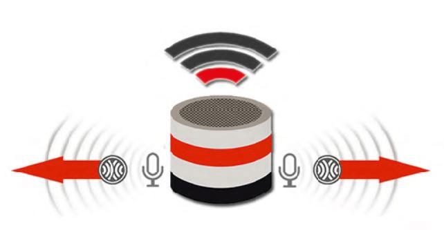 「RelaxoPet PRO (リラックス・オ・ペット プロ)」の振動による高周波発信イメージ