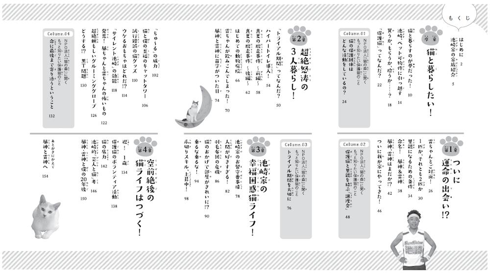 書籍「空前絶後の保護猫ライフ! 池崎の家編」の目次