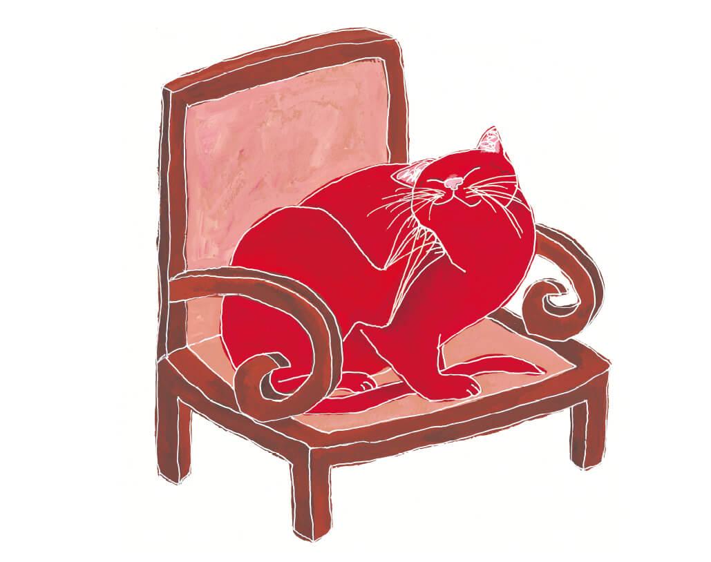 頭をかく猫 by 絵本「ねこがさかなをすきになったわけ」