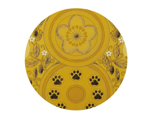 頭光にまたたびの花、身光に肉球をデザインした台座by 光背つめとぎ