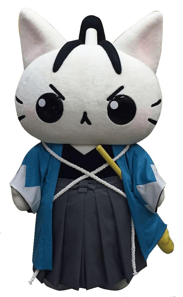 ねこねこ日本史のキャラクター、新選組一の剣豪と言われた沖田総司の猫の着ぐるみ