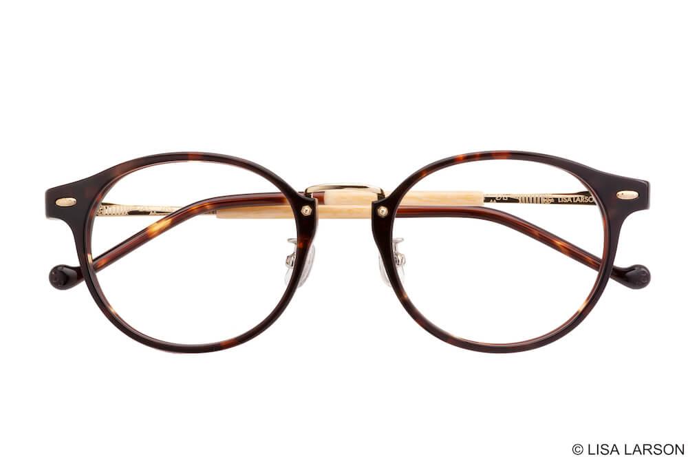 猫のマイキーのメガネ「Woody Block(ウッディブロック)」の「Boston」フレーム