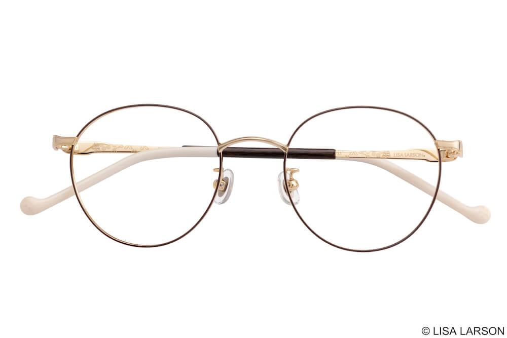 猫のマイキーのメガネ「Woody Block(ウッディブロック)」の「Boston」フレーム(細め)