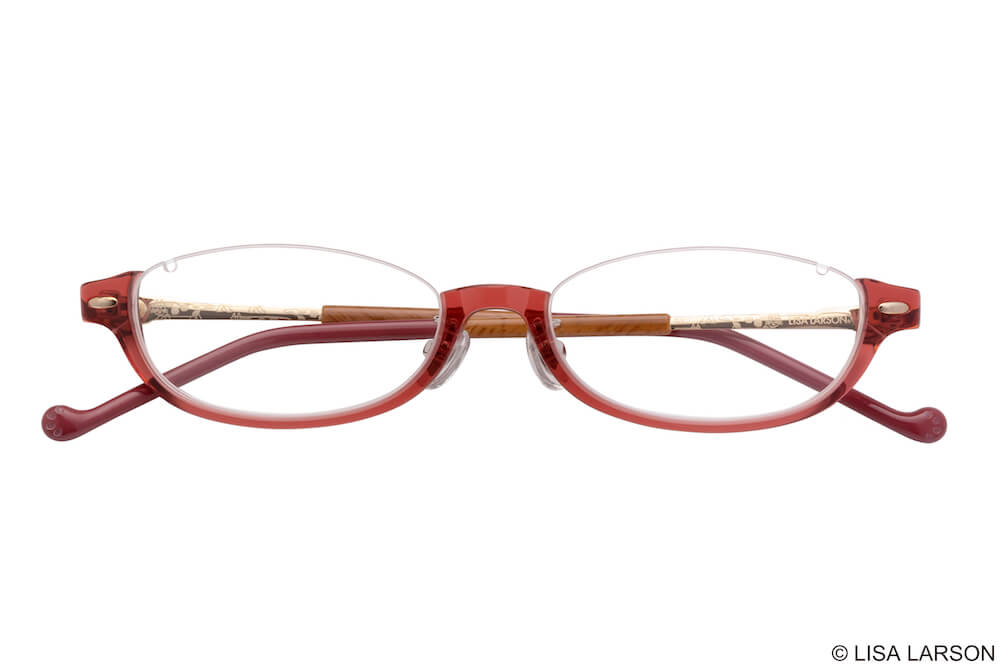 猫のマイキーのメガネ「Woody Block(ウッディブロック)」の「Oval」下フレーム