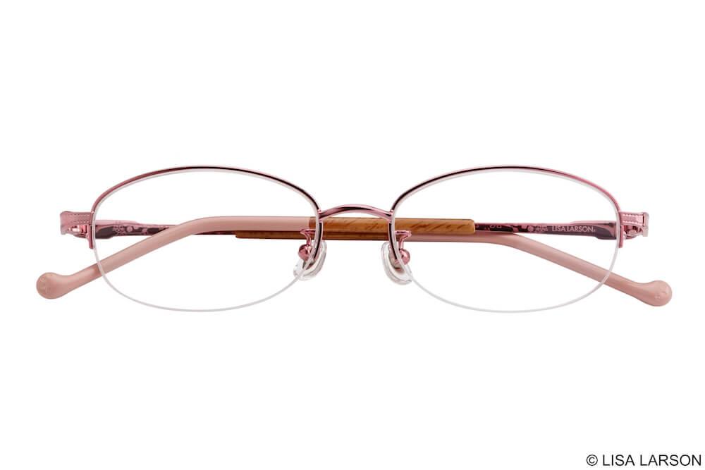 猫のマイキーのメガネ「Woody Block(ウッディブロック)」の「Oval」上フレーム