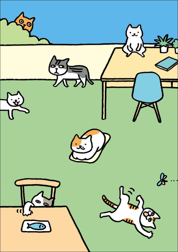「猫と一緒に生き残る防災手帳 2020」のリバーシブルカバー