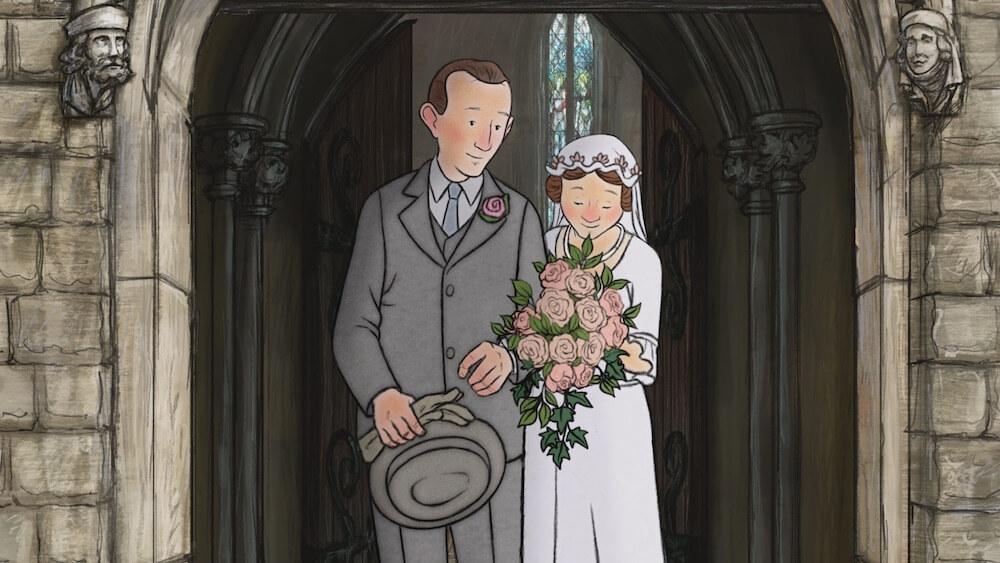 エセルとアーネストの結婚式のシーン by アニメ映画「エセルとアーネスト ふたりの物語」