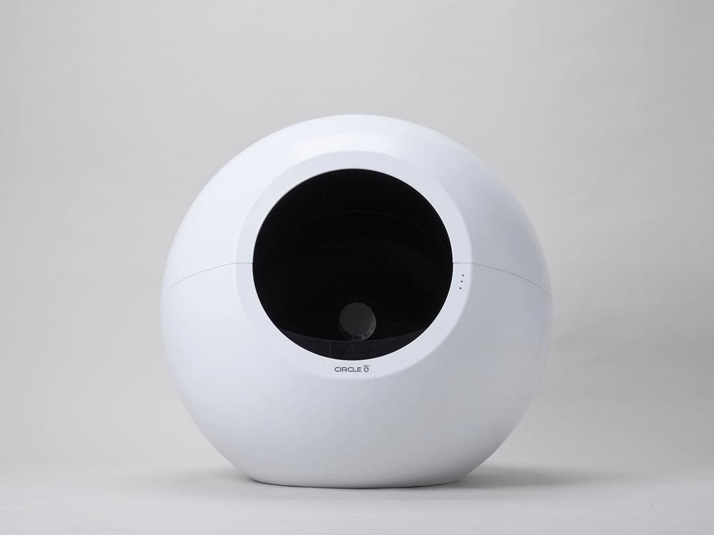 猫用の全自動トイレ「CIRCLE 0(サークル ゼロ)」の製品イメージ