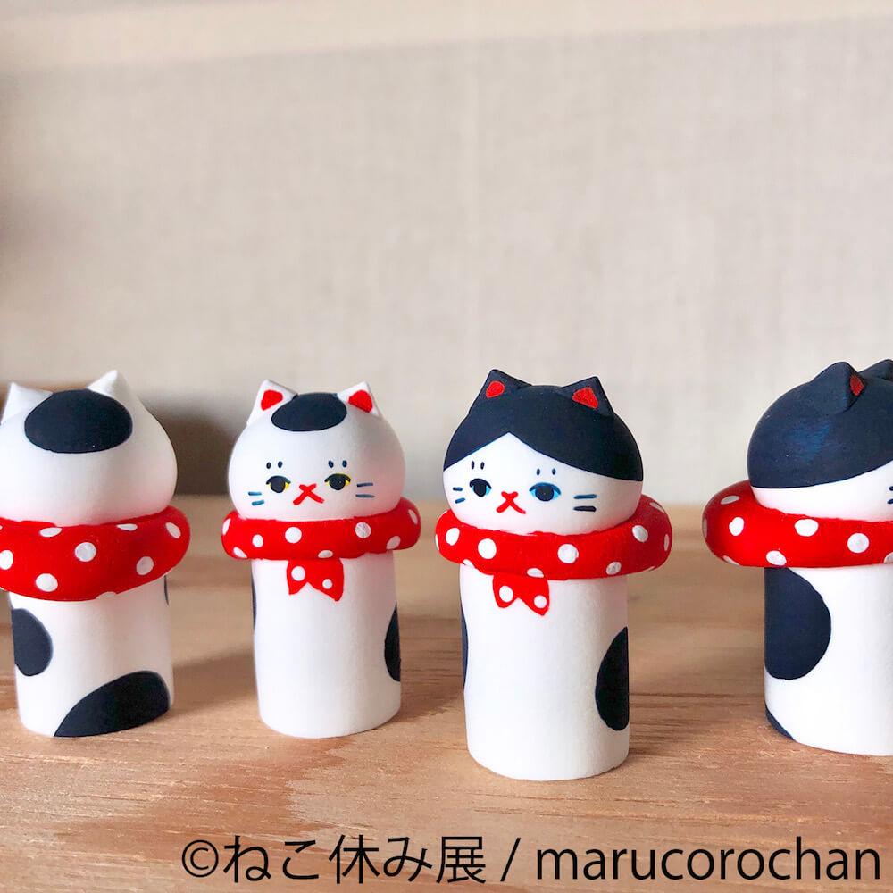 猫こけし(風呂敷) 1,500円 by marucorochan