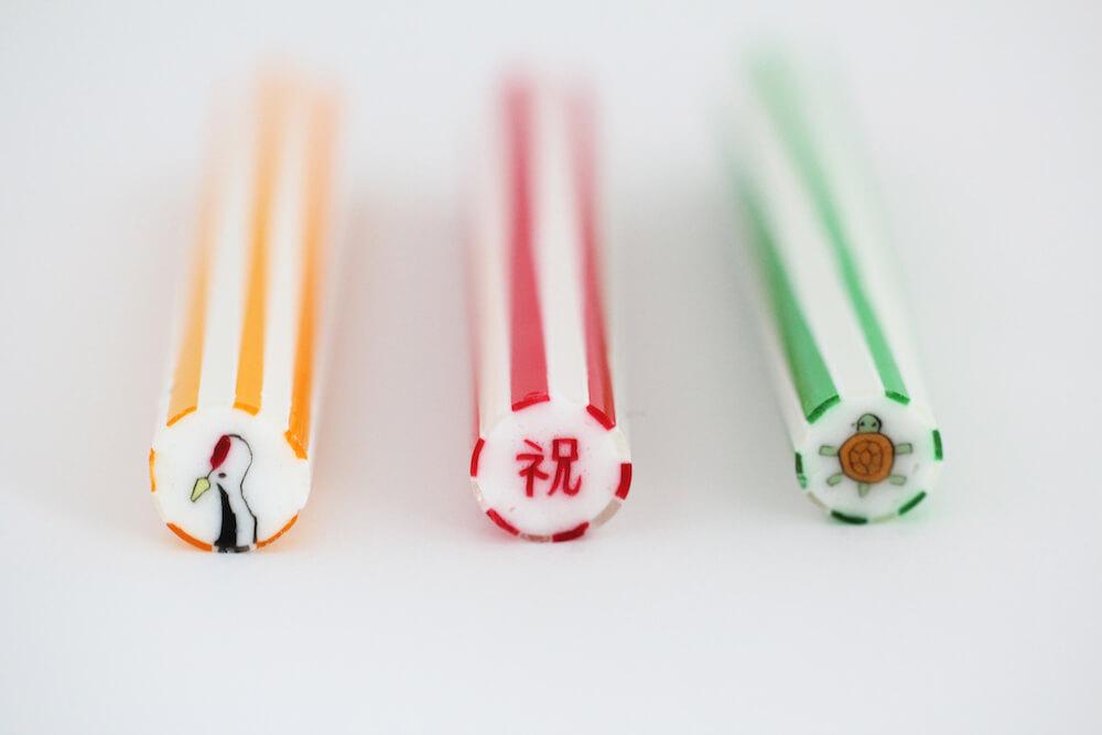 papabubble(パパブブレ)の千歳飴「鶴、祝、亀」バージョン