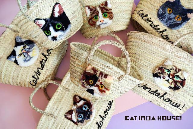 猫のかごバッグ by キャッツ・イシューのポップアップストア