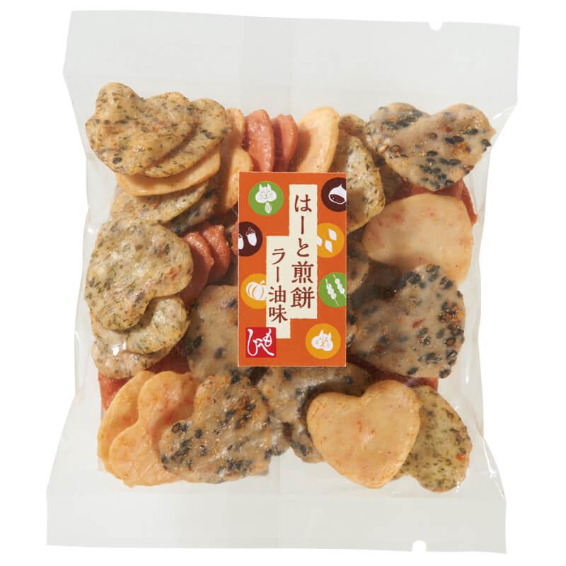 はーと煎餅ラー油味 by カルディの「粋な箸置きセット」