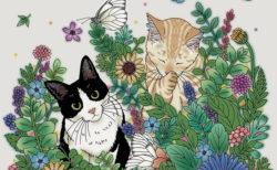 なぞるだけでカラフルな猫が浮かび上がる!大人が楽しむネコの新作スクラッチアート本2選