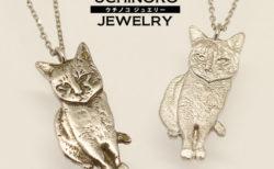 スマホの写真を送るだけ!猫の立体的なネックレスを作れる「ウチノコジュエリー」