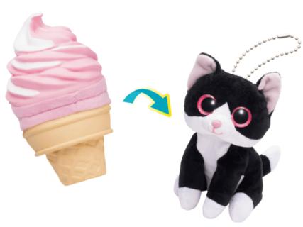 アイスクリームを裏返すと…猫が現れるッ!かわいい子供向けおもちゃ「スウィートキャッツ」