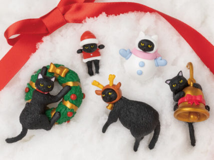 ベローチェでもらえる猫フィギュア「ふちねこ」今年はクリスマスバージョンを11月から開始