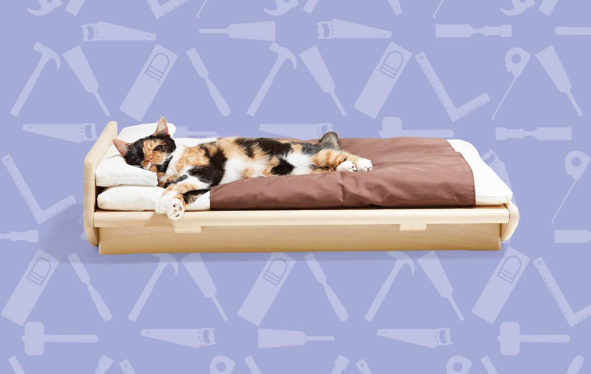 桐里工房が制作した猫用のベッド by ネコ家具