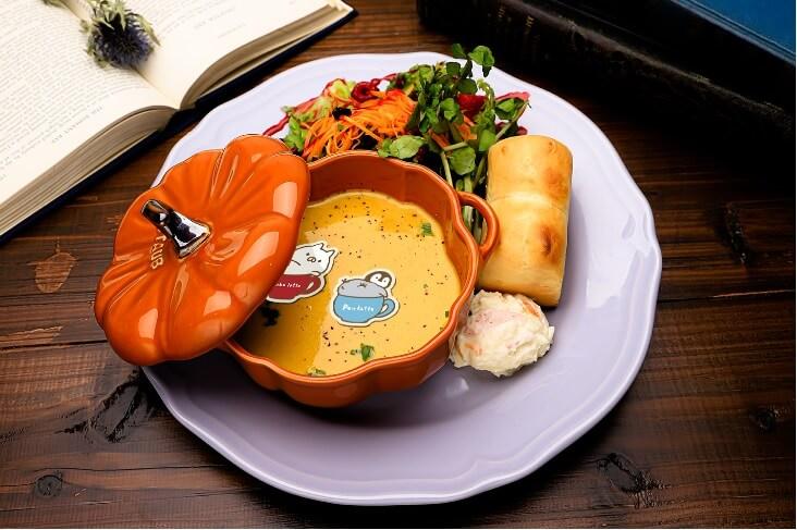 かぼちゃのスープと野菜のプレート by ねこぺんBOOK CAFE