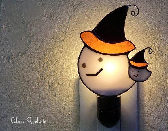 親子のハロウィンおばけ♪ ステンドグラス ランプ by G.R-mik