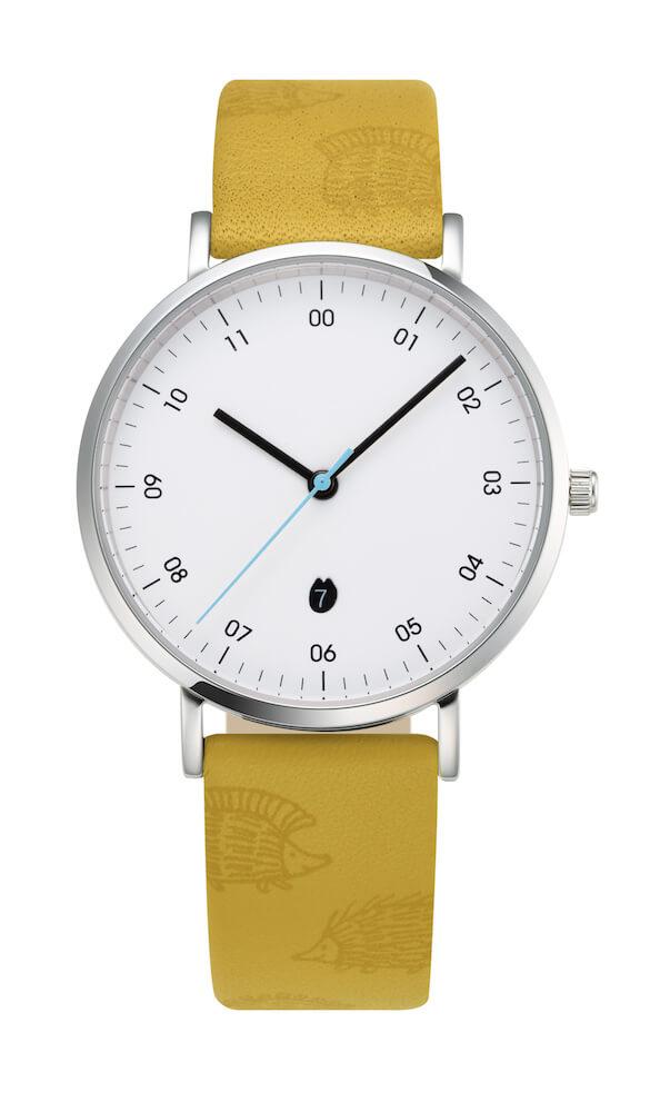 リサ・ラーソンの腕時計「HEDGEHOGモデル」絵柄付ストラップ by ノルディックフィーリング