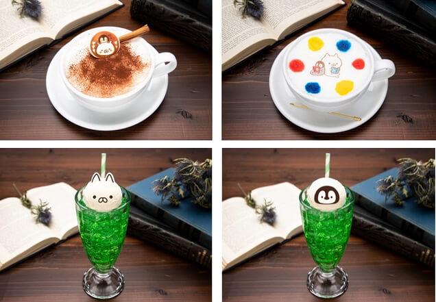 「ねこぺんBOOK CAFE」第2弾のドリンクメニューイメージ
