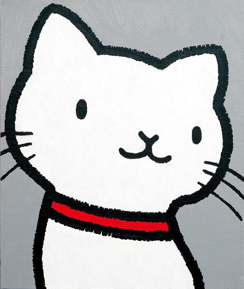 猫のイラスト by 間泰宏(洋画家)
