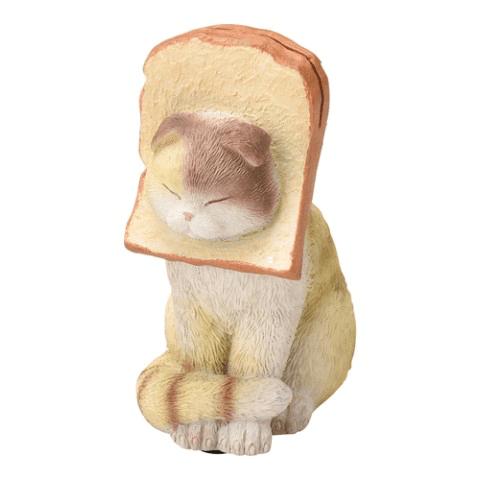食パンから顔が突き出た猫のメモクリップ(スコティッシュフォールド)