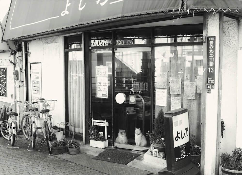 猫がいる喫茶店の外観 by 写真集「猫と喫茶店」
