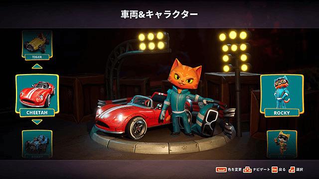 ゴーカートを運転する猫キャラクター by Meow Motors(ミャウモーターズ)
