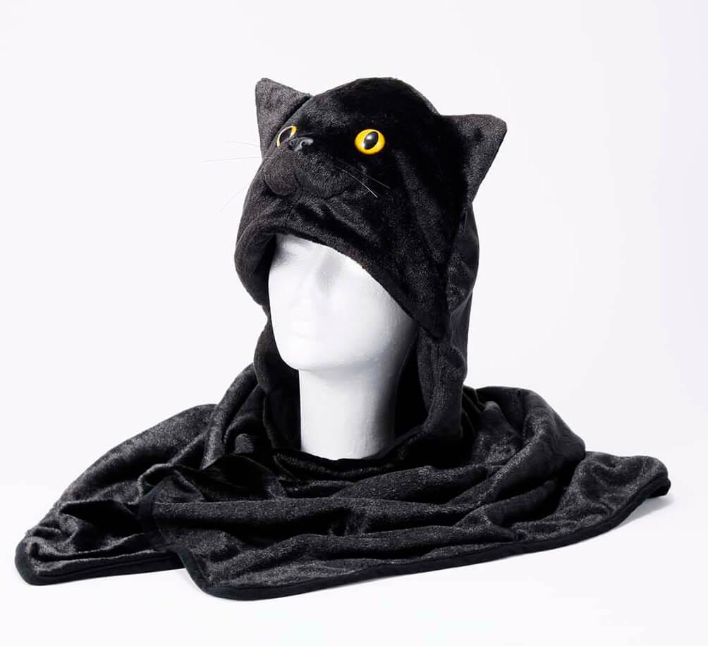 黒猫をモチーフにした「クロネコもふもふブランケット」 by クロネコメンバーズ(ヤマト運輸)