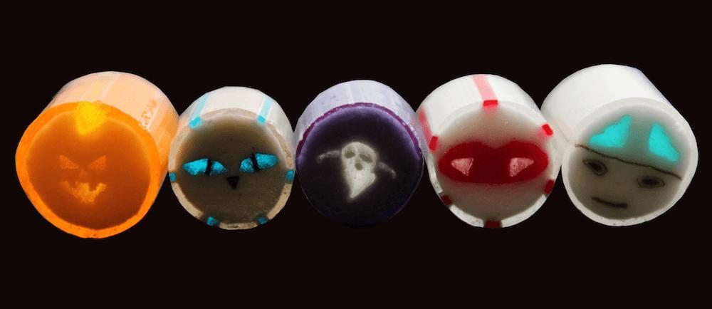 パパブブレの暗闇キャンディ(暗闇で光に透かしたイメージ)