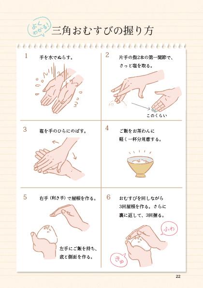 三角おむすびの握り方 by 大人のおむすび学習帳