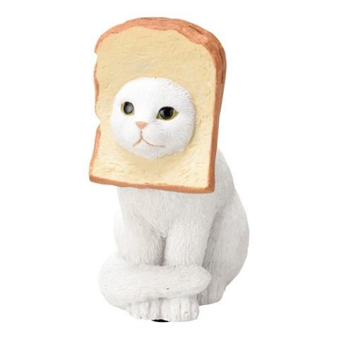 食パン猫のメモクリップ(白ネコ)