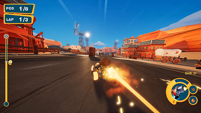 ゲームでコースを走行するイメージ by Meow Motors(ミャウモーターズ)