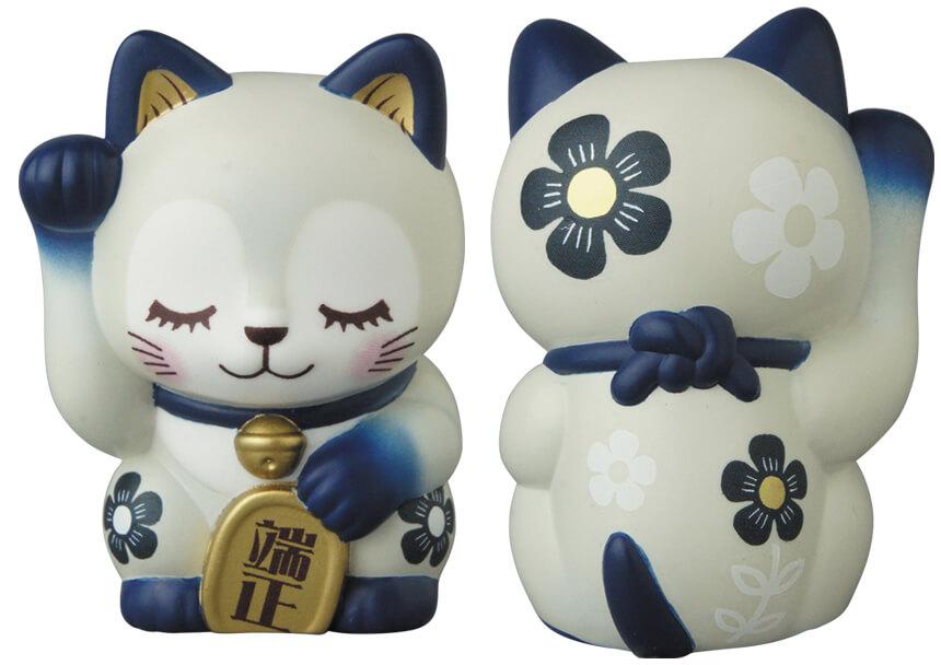 招き猫のソフビフィギュア「端正」 by ひなたかほり