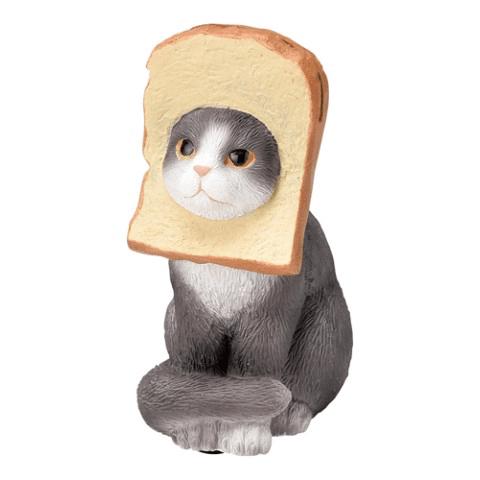 食パン猫のメモクリップ(ハチワレ)