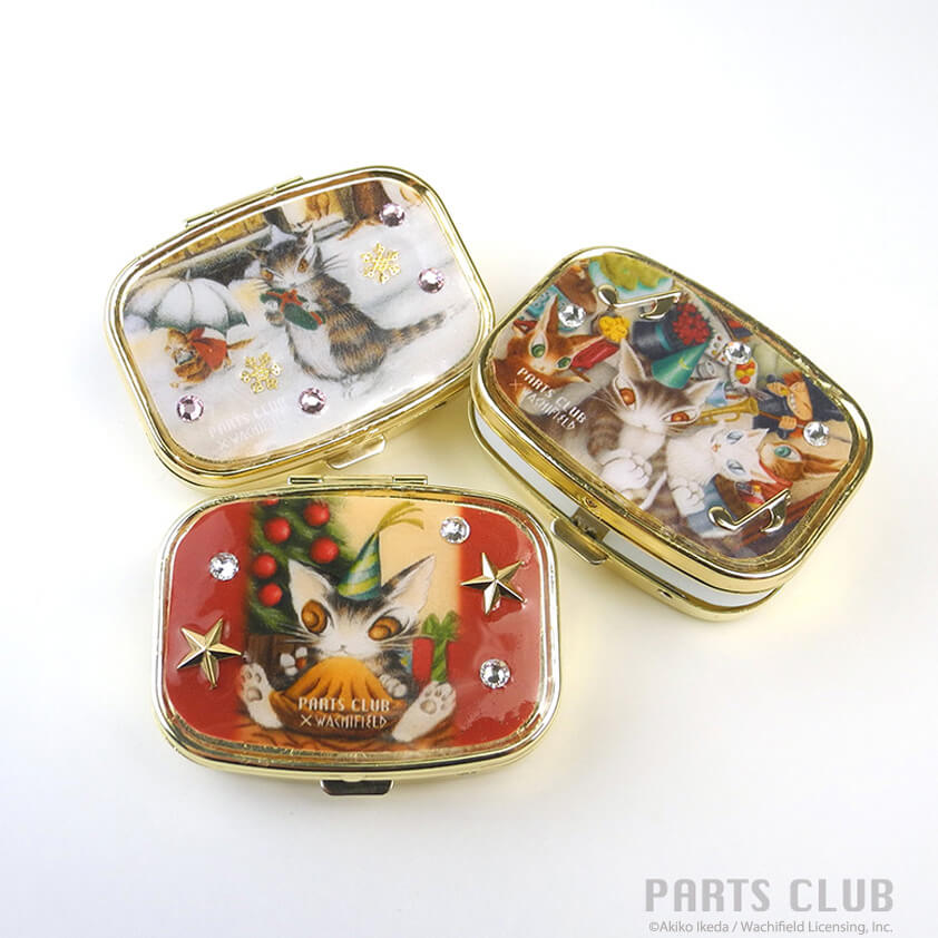 猫のダヤン・クリスマス柄の小物ケース by PARTS CLUB(パーツクラブ)