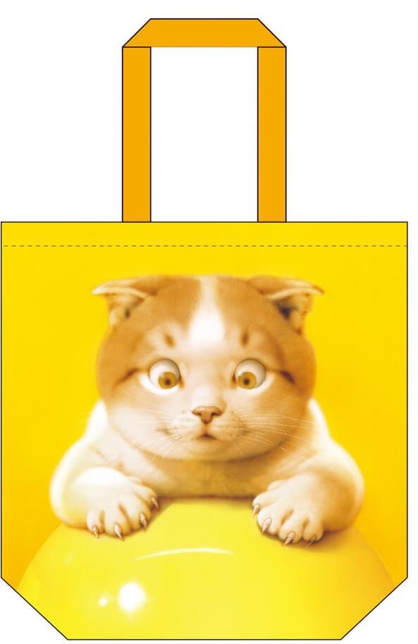 村松誠の猫イラストをデザインしたトートバッグ