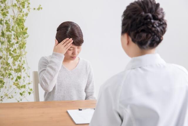 診察を受ける女性のイメージ写真